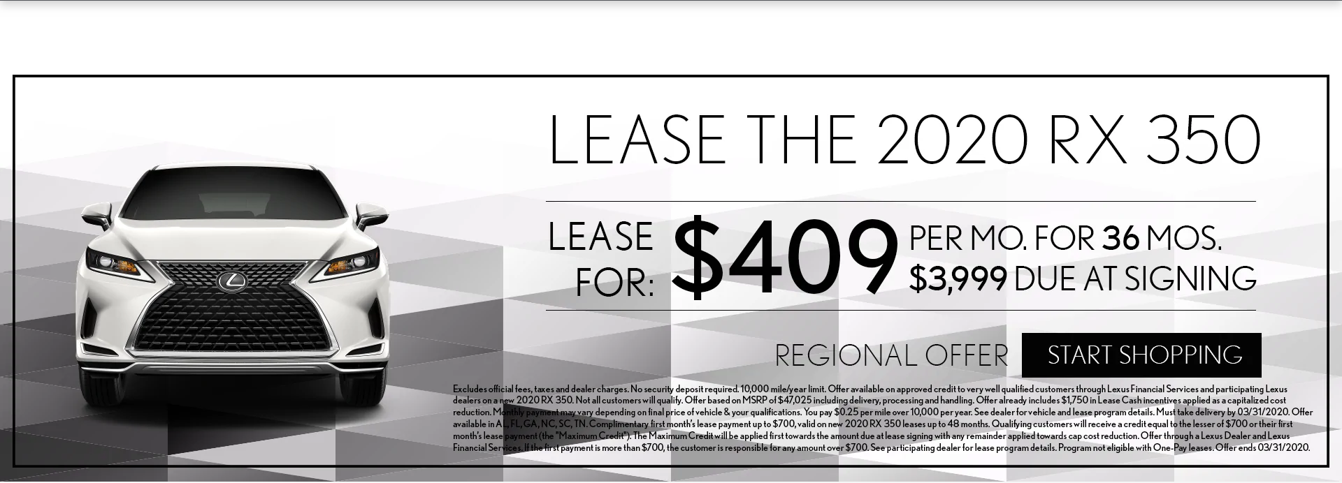 Lexus of New Orleans March Specials