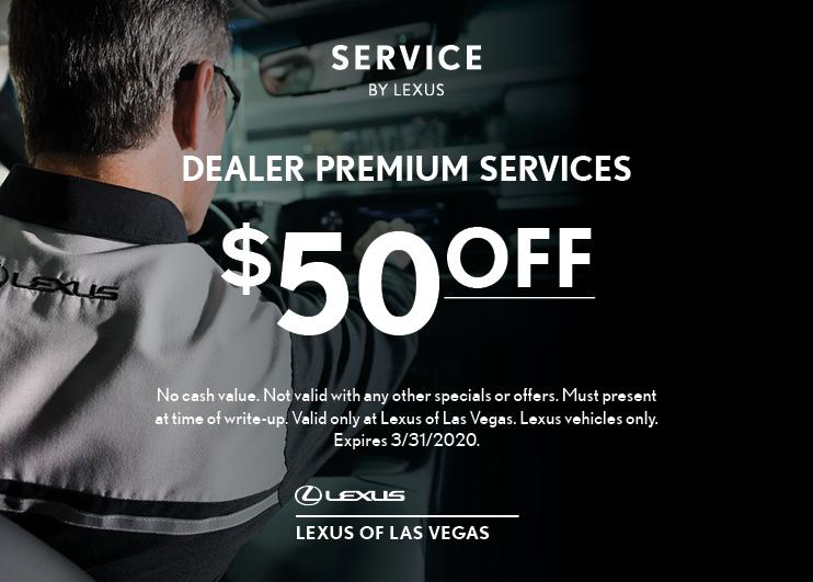$50 OFF Premium Services