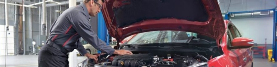Service Advisor working on Nissan Vehicle
