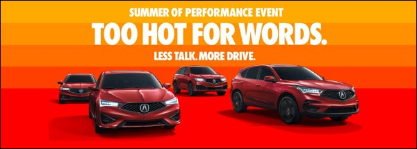 Acura's Summer of Performance Sales Event is Heating Up