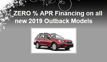 Special Finance Offer