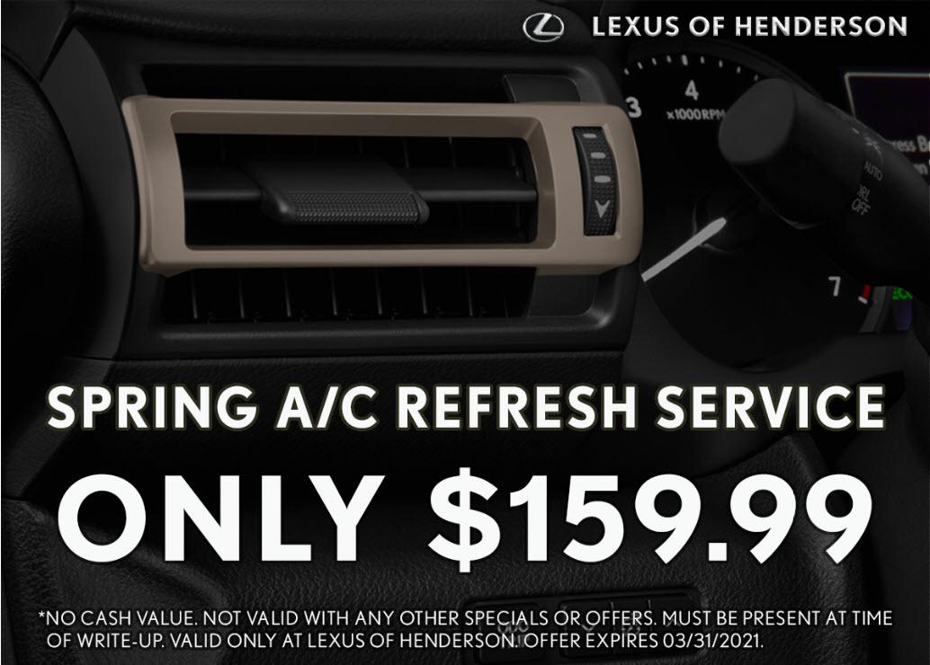 $159.99 Spring A/C Refresh Service
