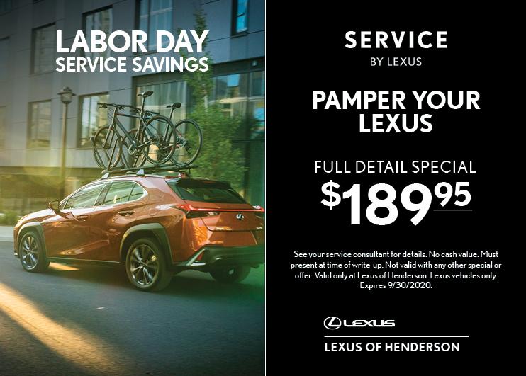 Pamper Your Lexus