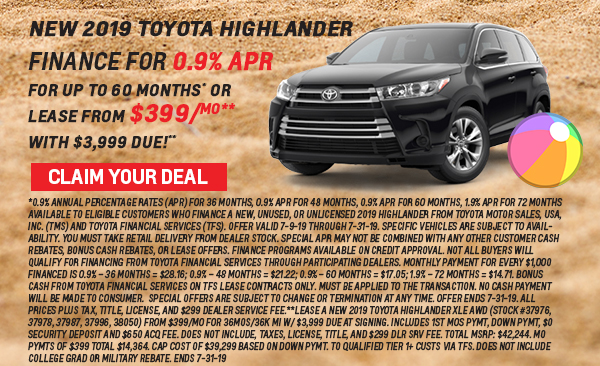 Andrew toyota summer deals highlander