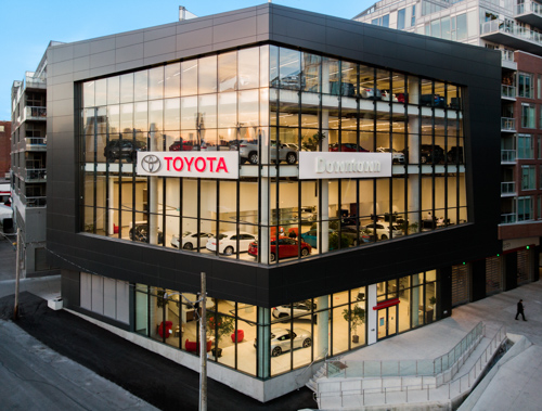 Image of Downtown Toyota's new location at the Autoplex.