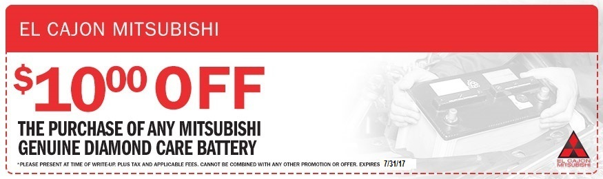 Mitsubishi Vehicle Battery Coupon El Cajon Mitsubishi
