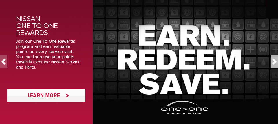 Bates Nissan One to One Rewards program