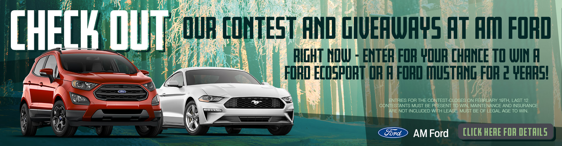 Contests & Giveaway | AM Ford | Trail, BC