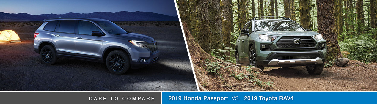 2019 Honda Passport Vs 2019 Toyota Rav4 Avery Greene Honda