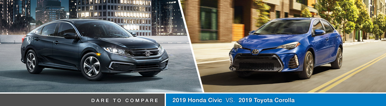 2019 Honda Civic vs 2019 Toyota Corolla | Avery Greene Honda | Vallejo, CA