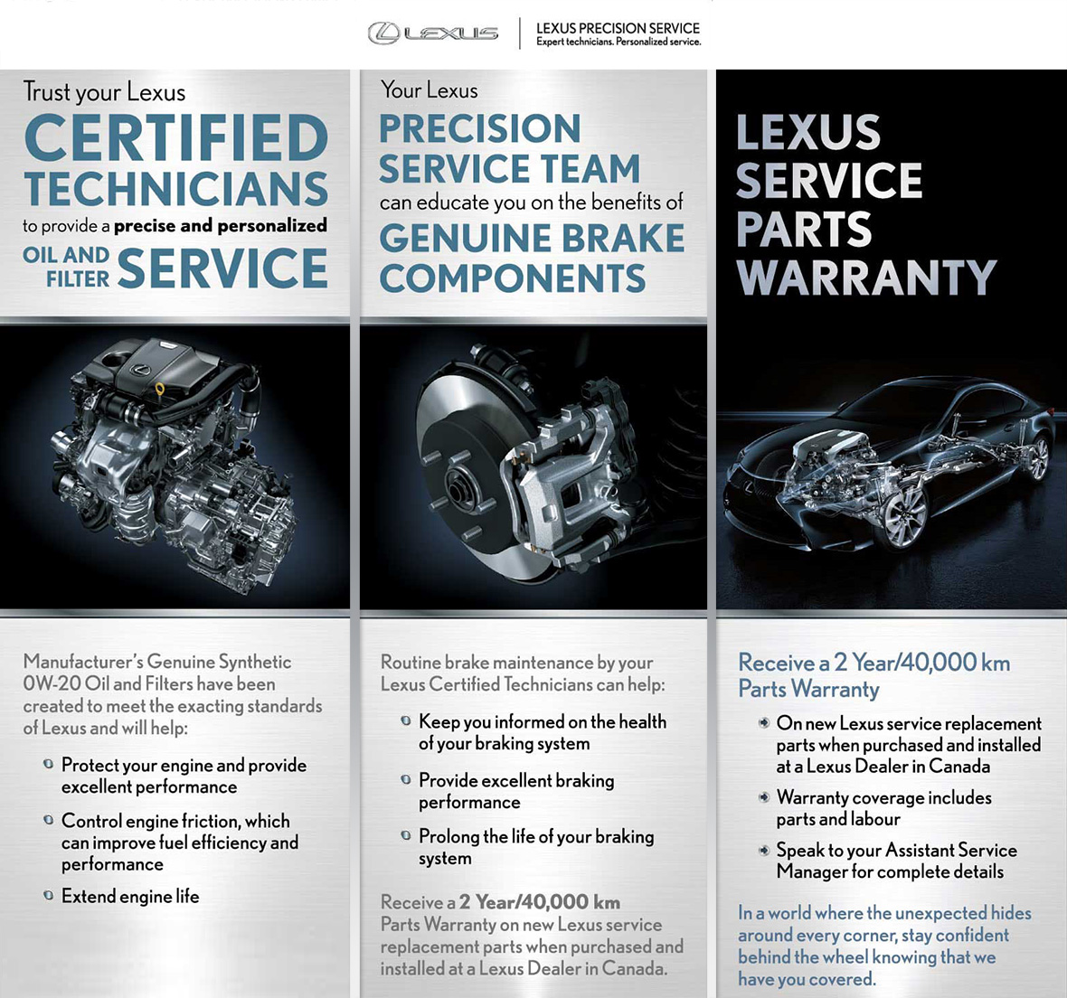 Benefits of the Lexus Precision Service Team and Lexus Service Parts Warranty