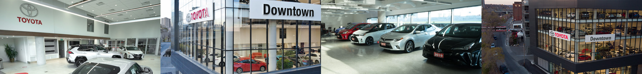 Interior and exterior images of Downtown Toyota.