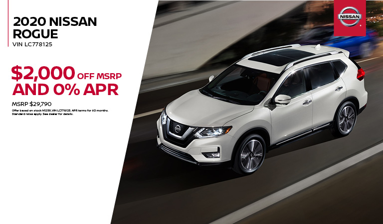 2020 Nissan Rogue Special Offer