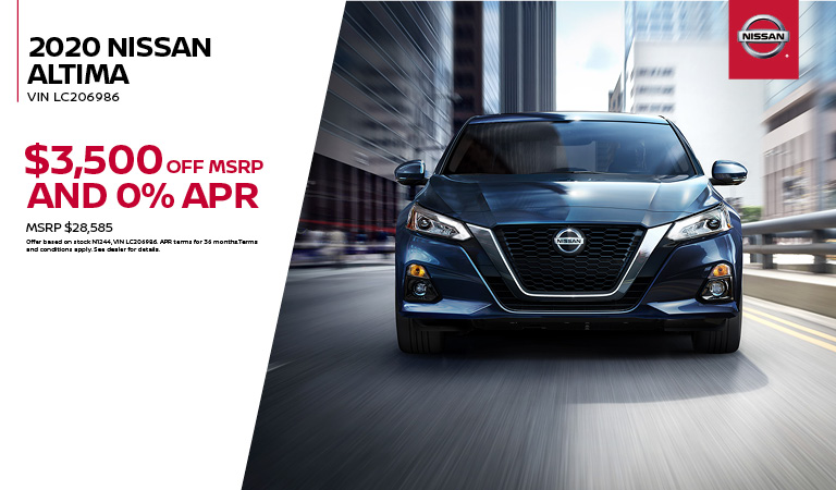 2020 Nissan Altima Special Offer