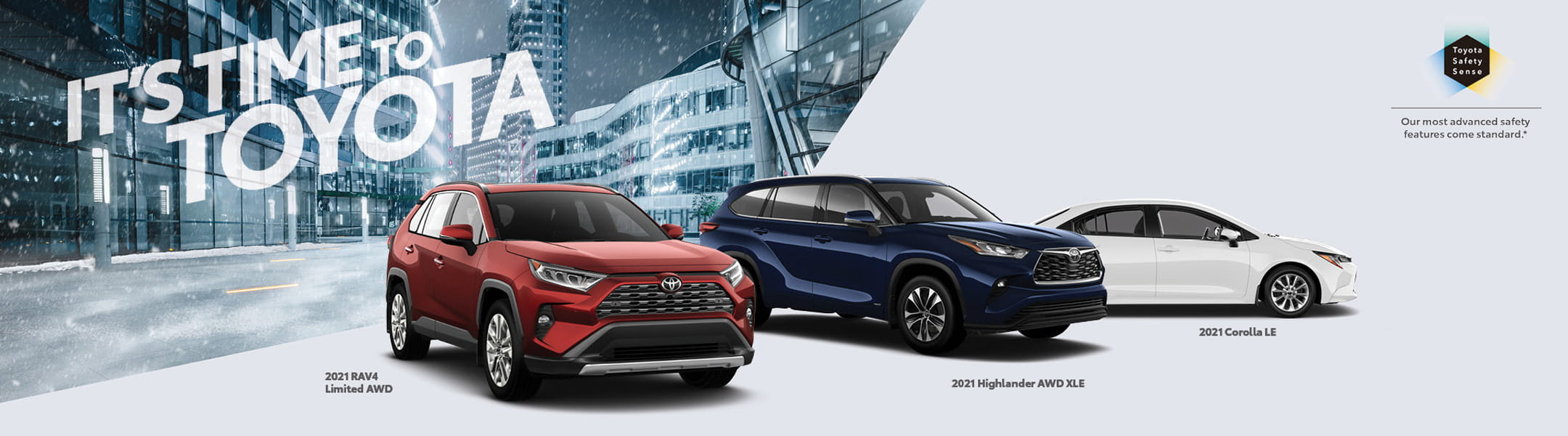 Click here for Downtown Toyota February - It's Time to Toyota Sale