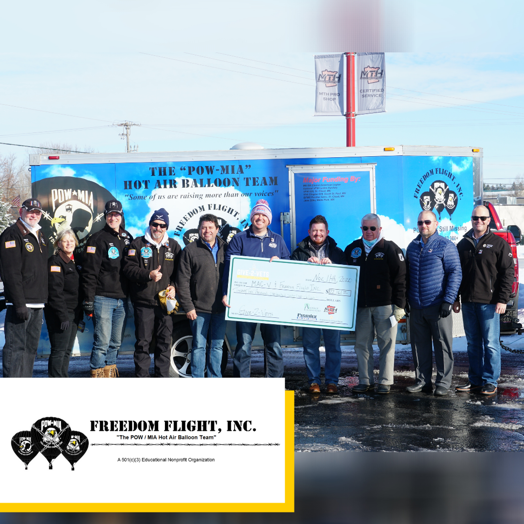 Freedom Flight Donation Check 2020