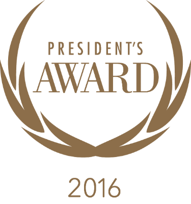 President's Award 2016 logo gold small