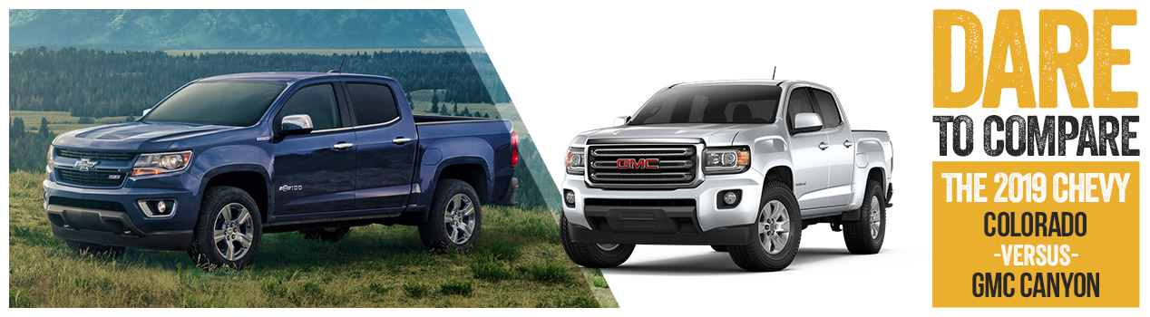 2019 Chevrolet Colorado Vs Gmc Canyon Huntsville Tx