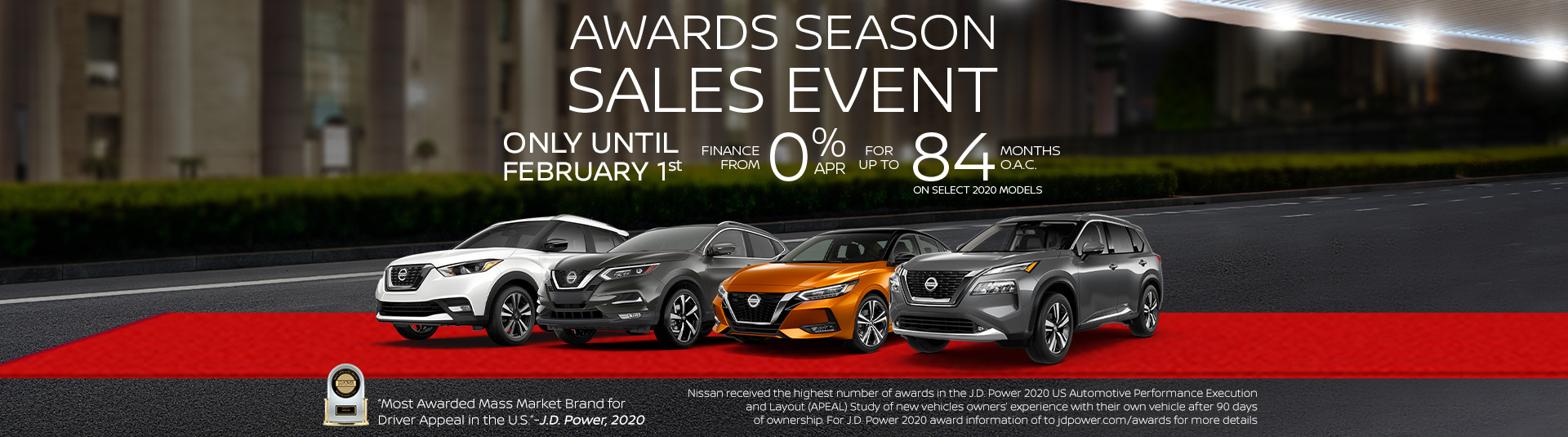 Awards Season Sales Event at Avenue Nissan