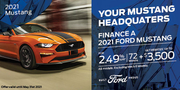 2.49% APR for 72 months on 2021 Mustang