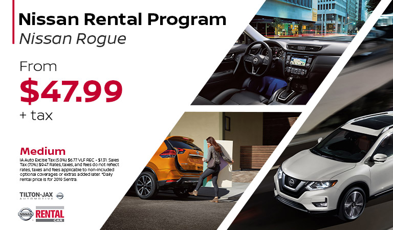 Rent the Nissan Rogue | Quad Cities, IA