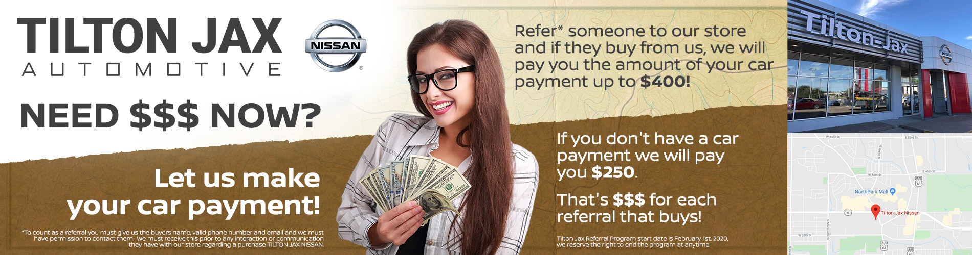 Tilton-Jax Referral Offer