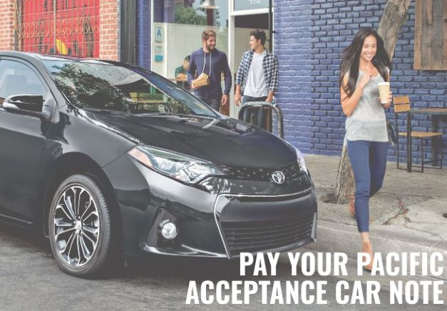 pay your pacific acceptance car note