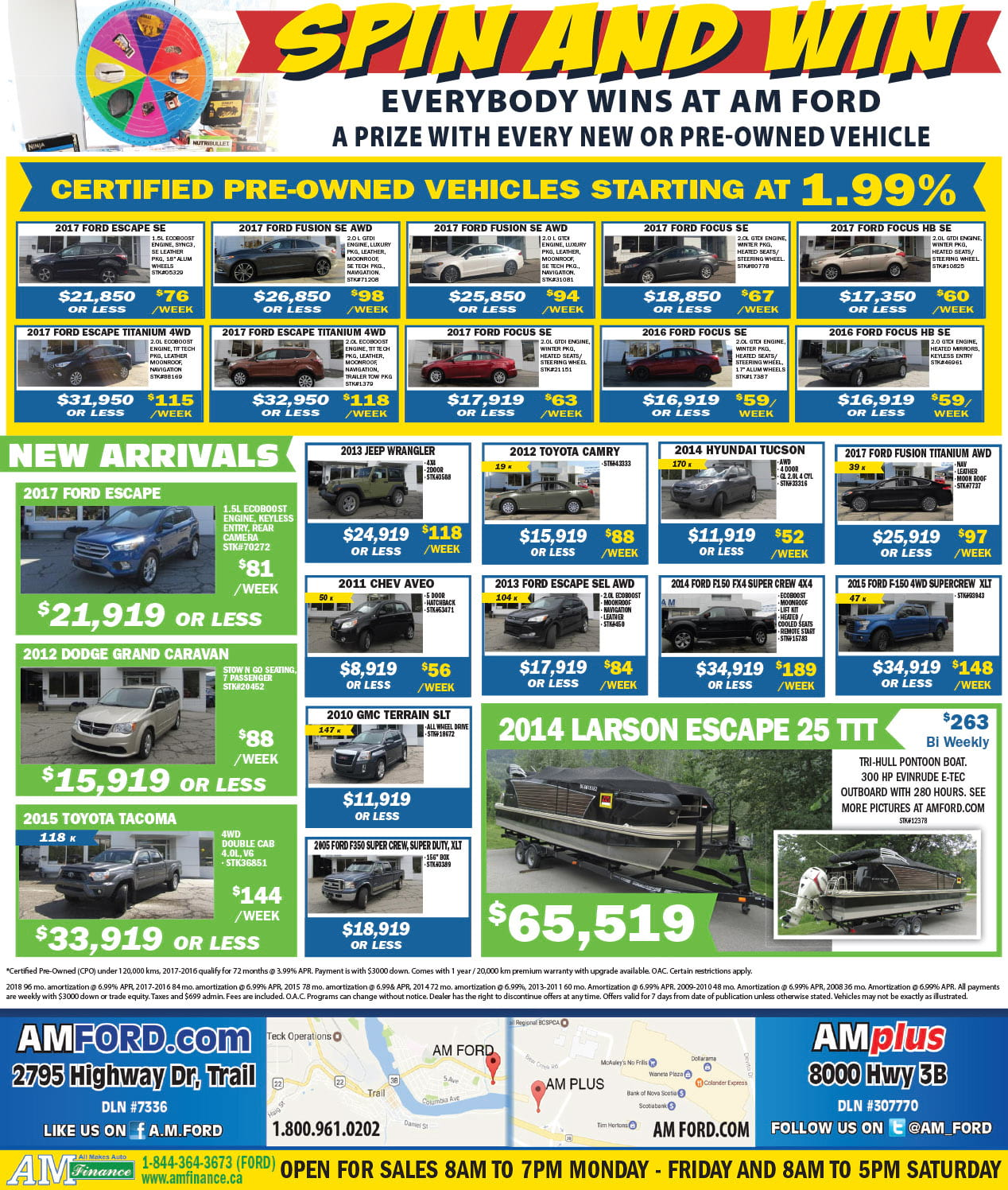 AM Ford Used Inventory Print Ad