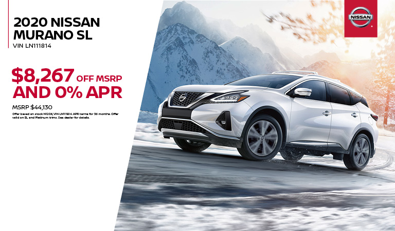 2020 Nissan Murano SL Special Offer
