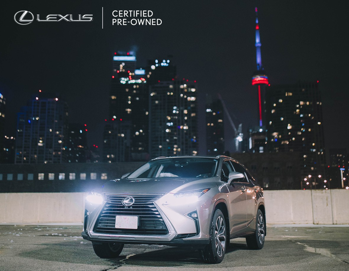 2019 Lexus RX L LCPO in front of CN Tower